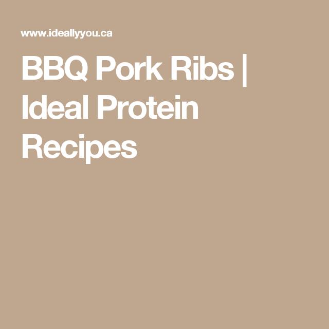 BBQ Pork Ribs | Ideal Protein Recipes