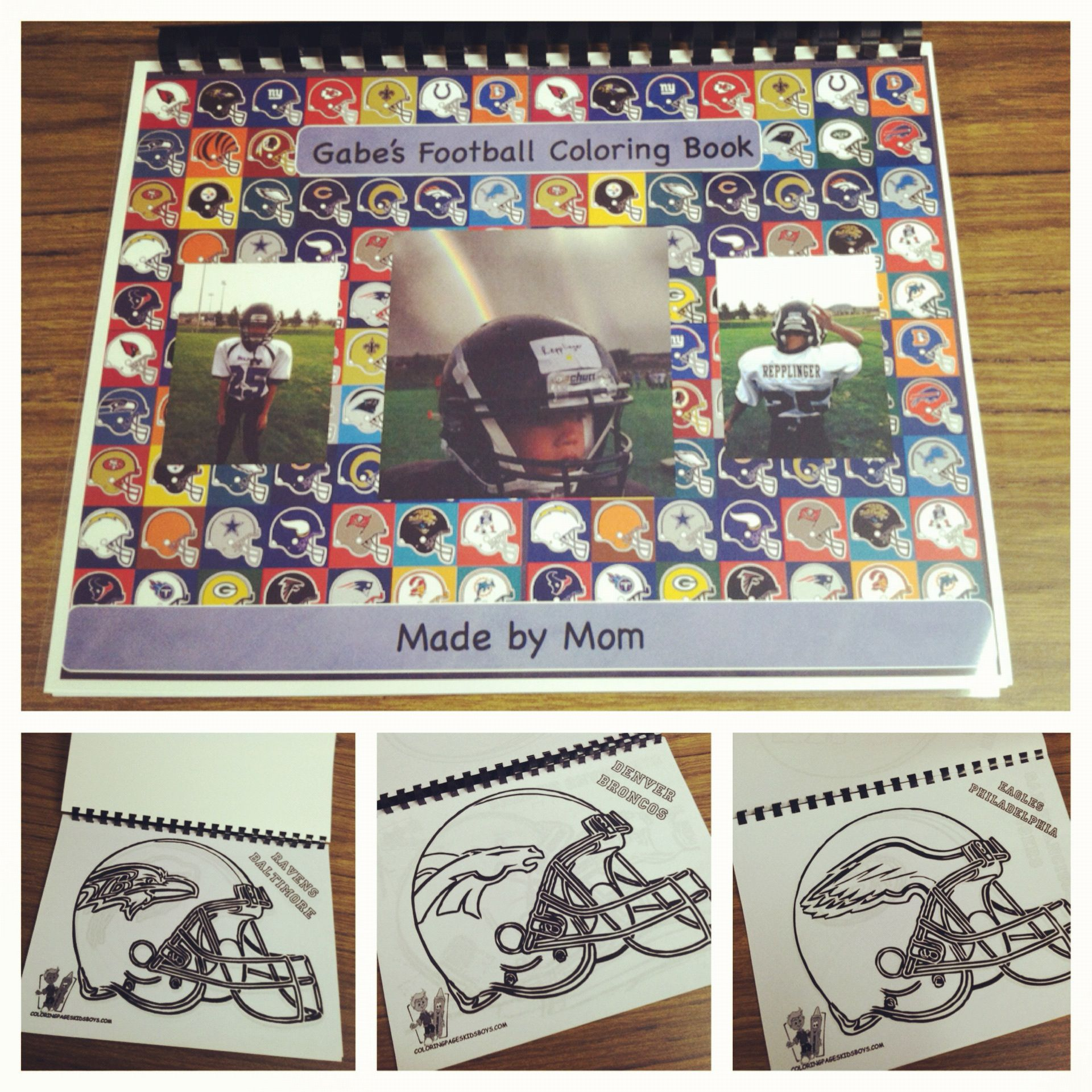 Diy Football Coloring Book Necessity Is The Mother Of Invention My 7 Year Old Needed To Color Green Bay Packers Crafts Coloring Books Nfl Football Helmets