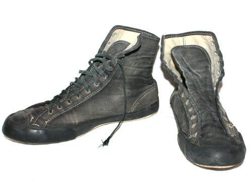 4290b813b724 Fab  60s Vtg Black Chuck Taylor Converse All Stars Canvas Wrestling Shoes 6  Hi T
