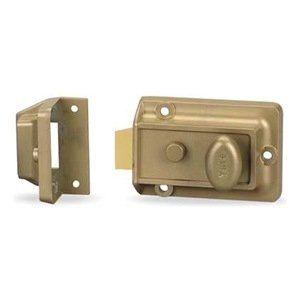 Boltlock Security By Yale 44 60 Rimlock Security Latchlock Thumbturn Steel Brass Finish Security Latchlock1 2 Throw Lat Home Hardware Home Doors Brass