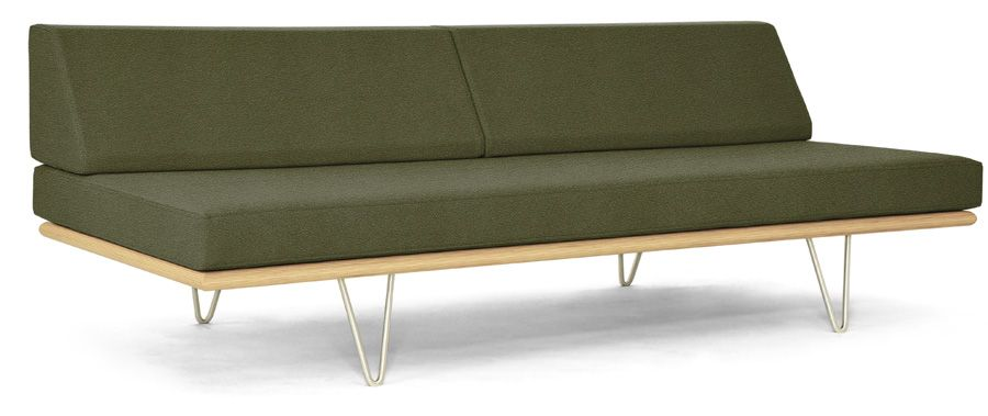 Case Study Daybed<br>Metal V-Legs<br>Drab Olive<br><strong>Discontinued Fabric</strong>