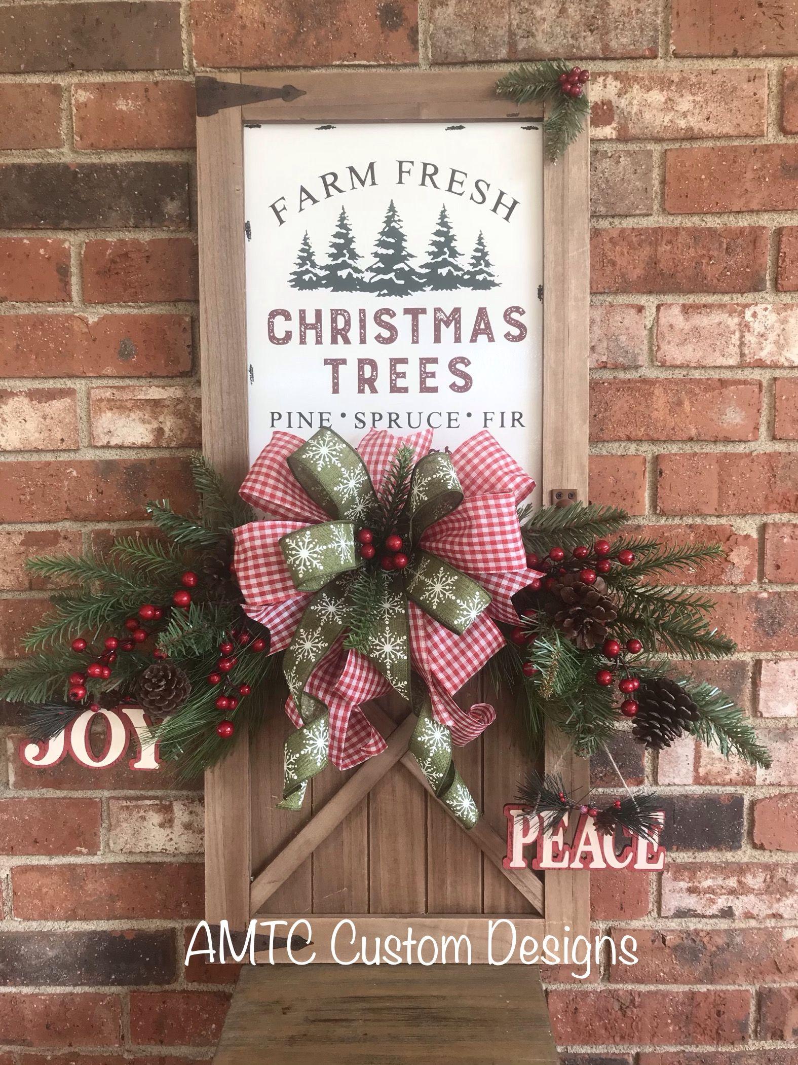 Farm fresh Christmas Trees! Hang it on your wall, put it