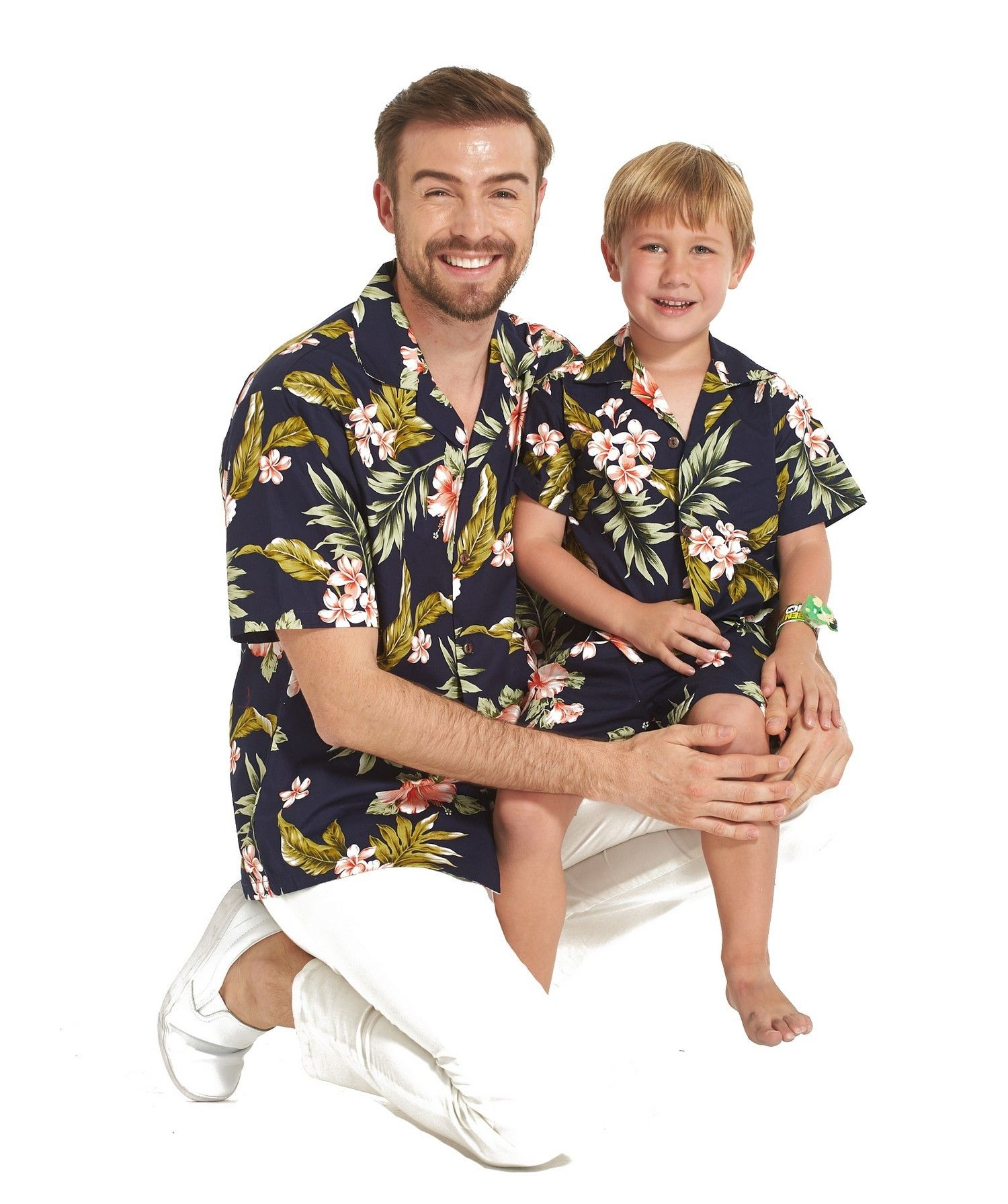 9131459d7 Made in Hawaii Father Son Matching Shirts in Navy Pink in 2019 ...