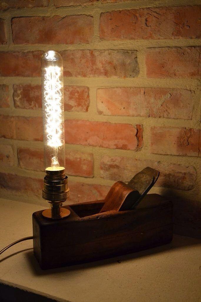 Lampe rabot | wood plane lamp