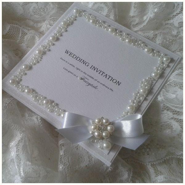 elegant wedding invitations with crystals |  wedding, Wedding invitations