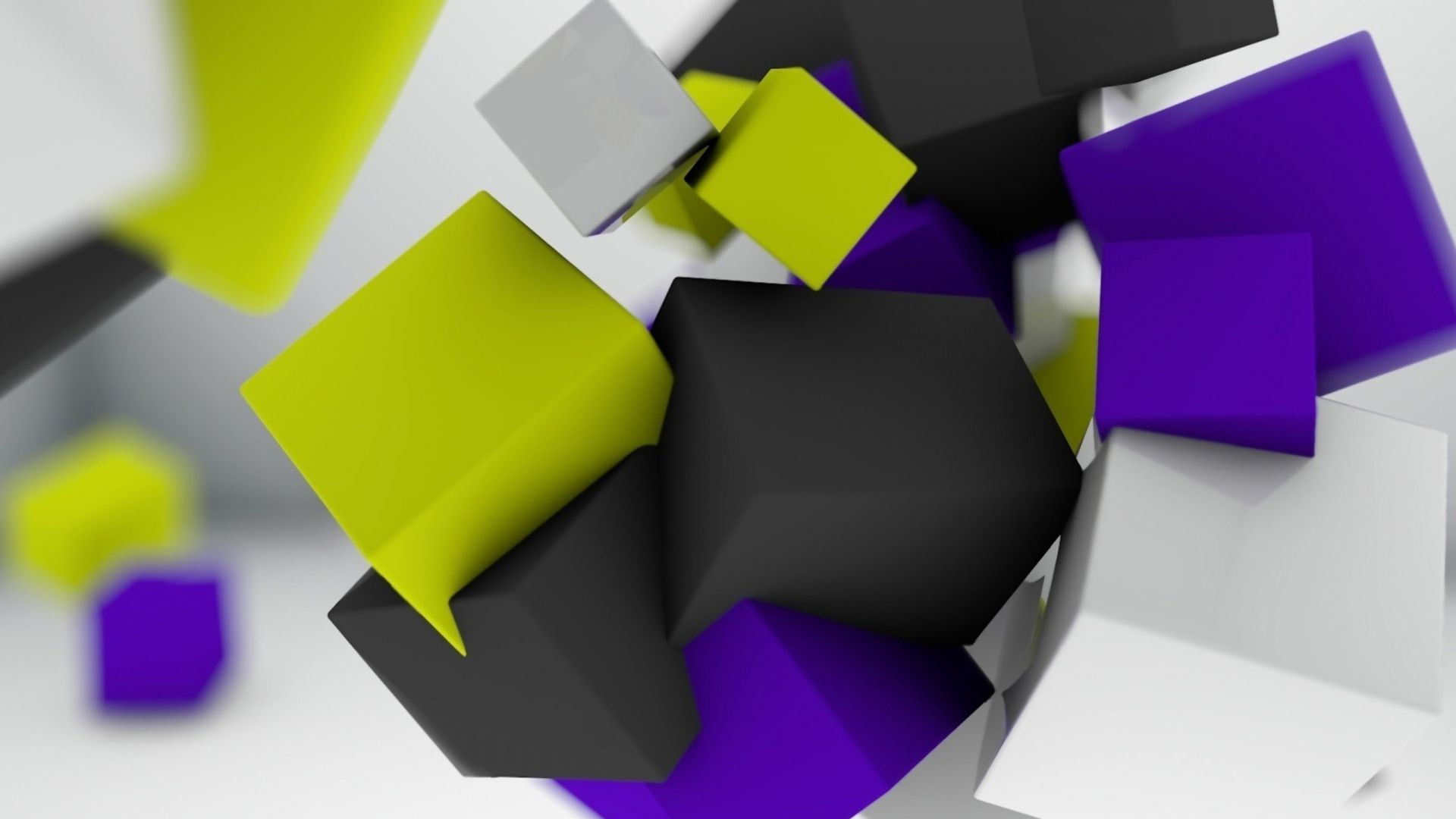 3d abstract cubes background - photo #30