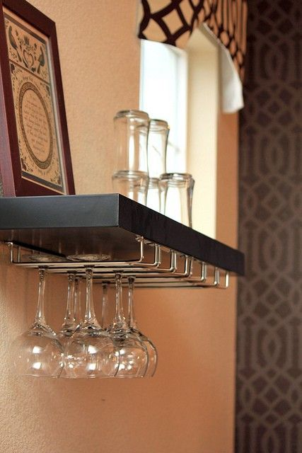 Diy Floating Shelf Wine Rack Rack And Shelf Both From Lowes