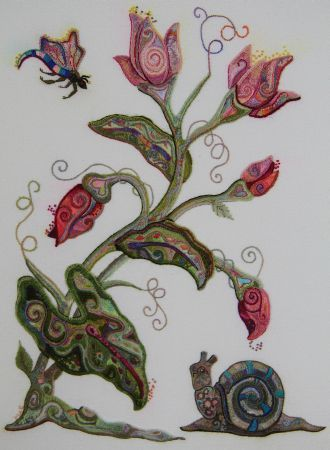 The Embroiderers Guild Of America Ega Love The Snail