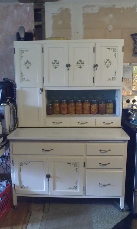 She did a beautiful job restoring this cabinet! | dining/kitchen ...
