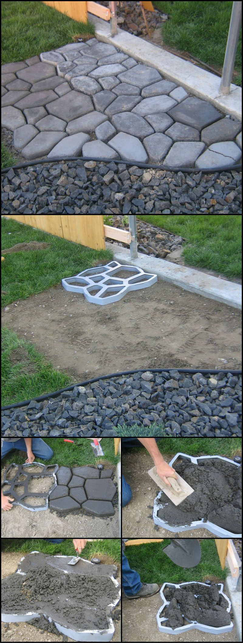 How To Make Your Own Cobble Stone Path Http://theownerbuildernetwork.co/