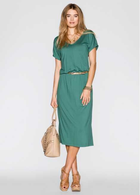 Midi-Kleid | Lange kleider, Kleider, Outfit