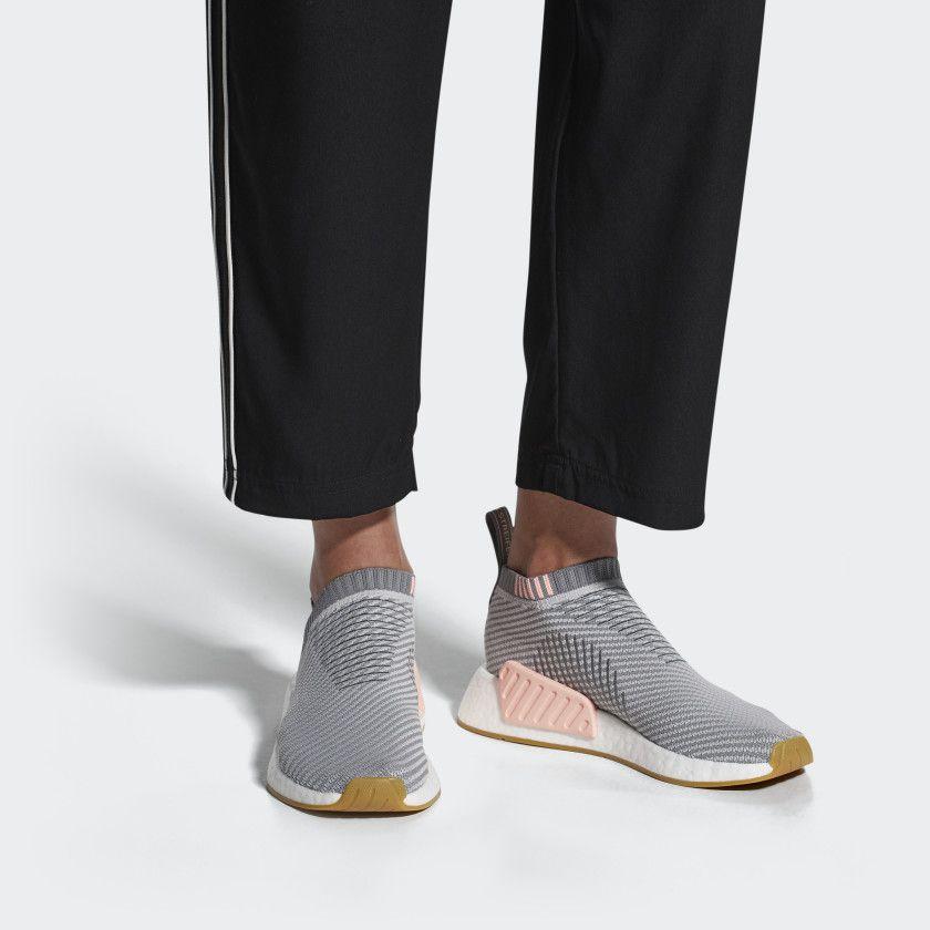 ce38c52325c3 NMD CS2 Primeknit Shoes Grey   Clear Orange   Cloud White DB2773 ...