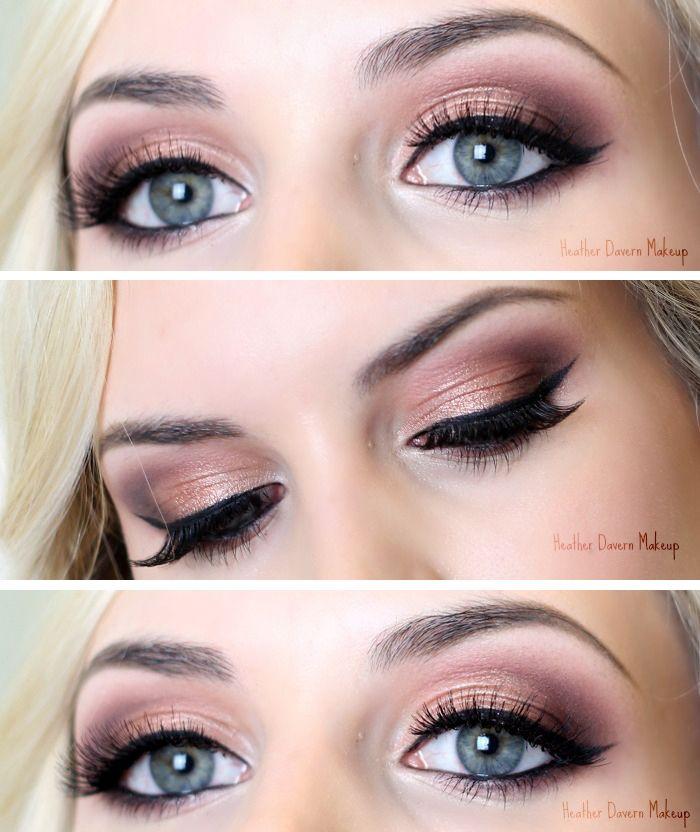 Today S Look Rose Gold Heather D Blue Eye Makeup Gold Makeup