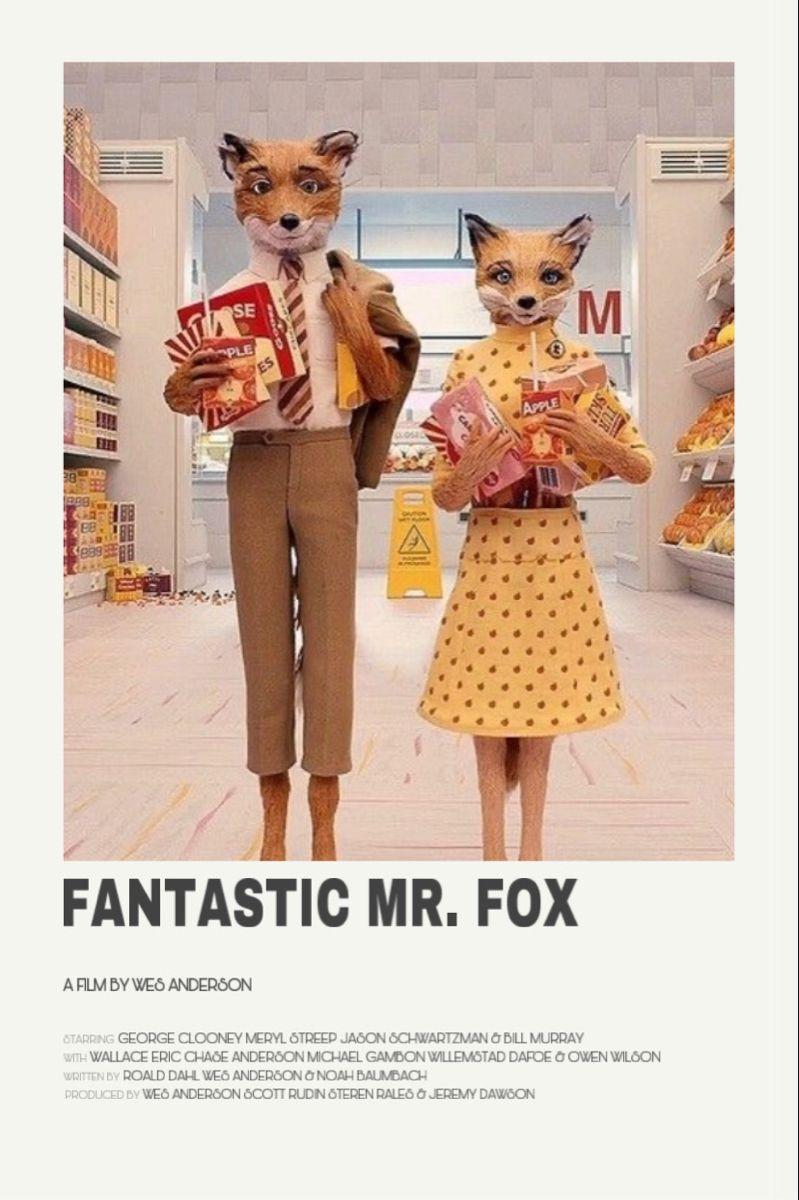 fantastic mr fox movie poster iconic