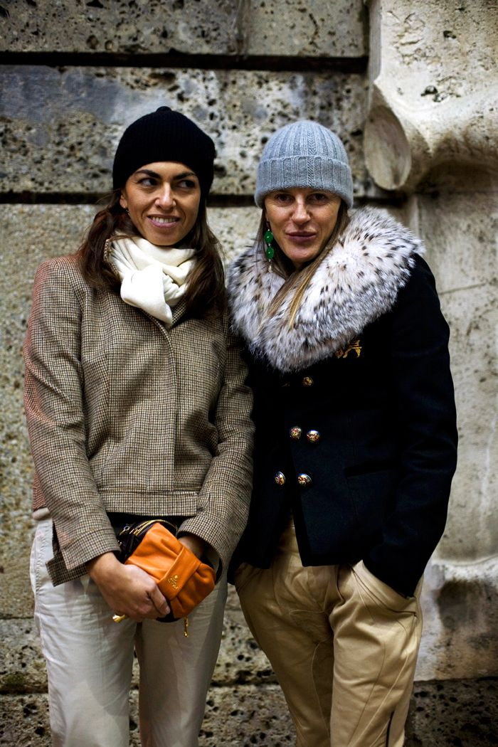On the Street….Anna and Viviana volpicella at Burberry « The Sartorialist
