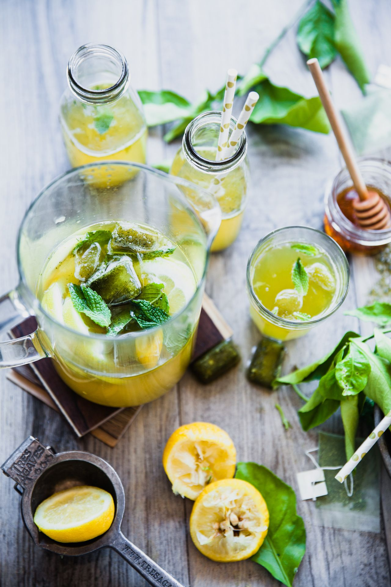 Green Tea Mint Lemonade
