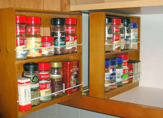 Spice Rack Nj Custom 10 Clever Diy Ways To Store Kitchen Spices  Cabinet Spice Rack