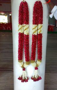 Rose Petal Flower Garland Wedding Indian Wedding Garland Red Rose Bridal Bouquet