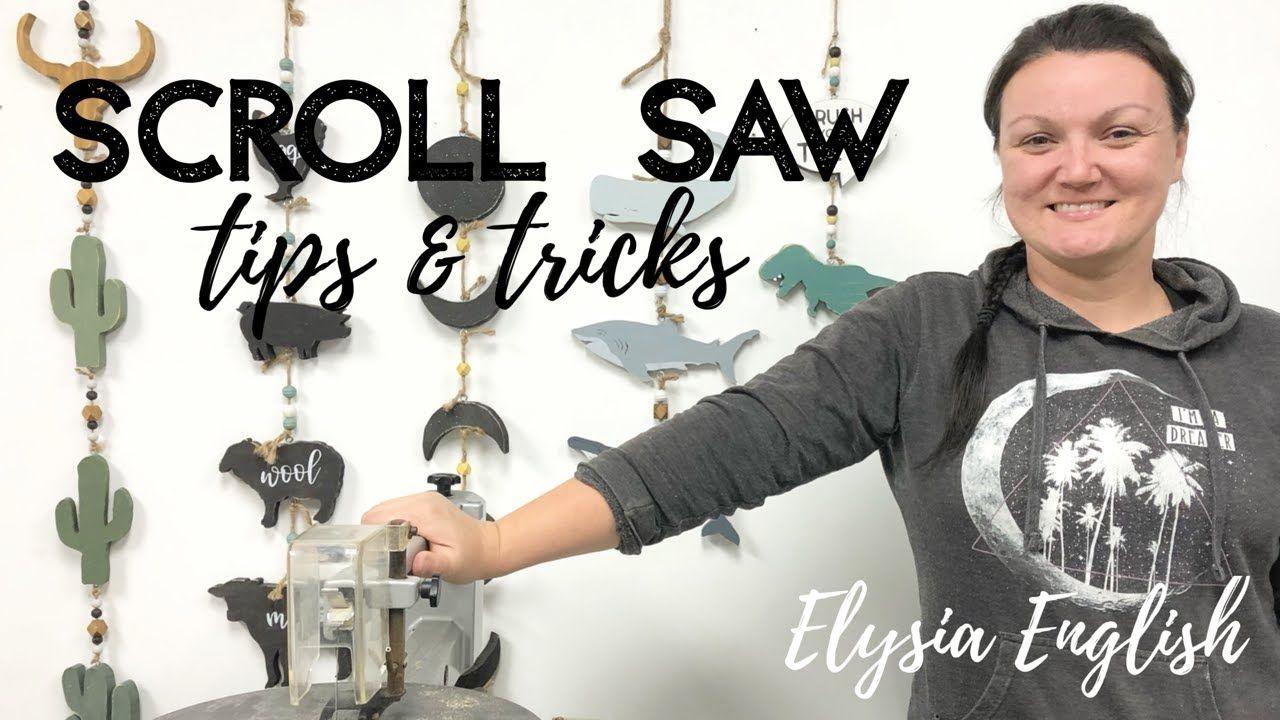 Easy Scroll Saw Tutorial   Scroll Saw Tips & Tricks   How to use a scroll saw DIY   Elysia English - YouTube