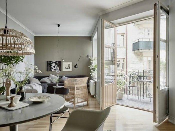 Pareti color tortora, abbinamento grigio e bianco, soggiorno ...