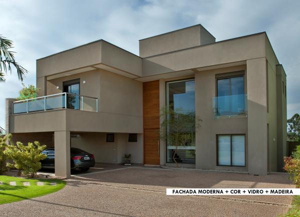 Aeg casa moderna brasilia3 fachadas pinterest casas for Casa moderna rectangular