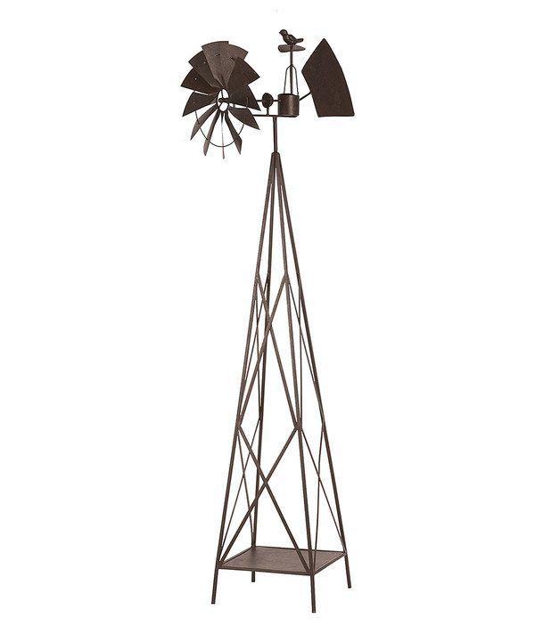 Large Iron Garden Windmill