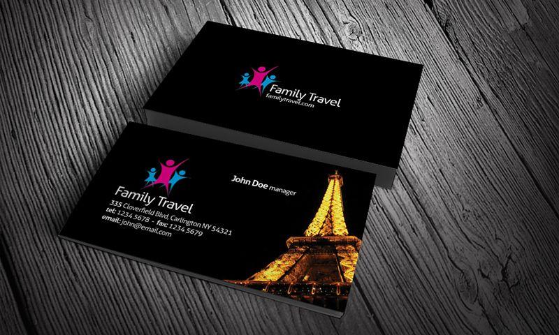Free Visiting Card Design Travel Tour Business Card Visiting Card Design Visiting Cards Design Business Card Ideas