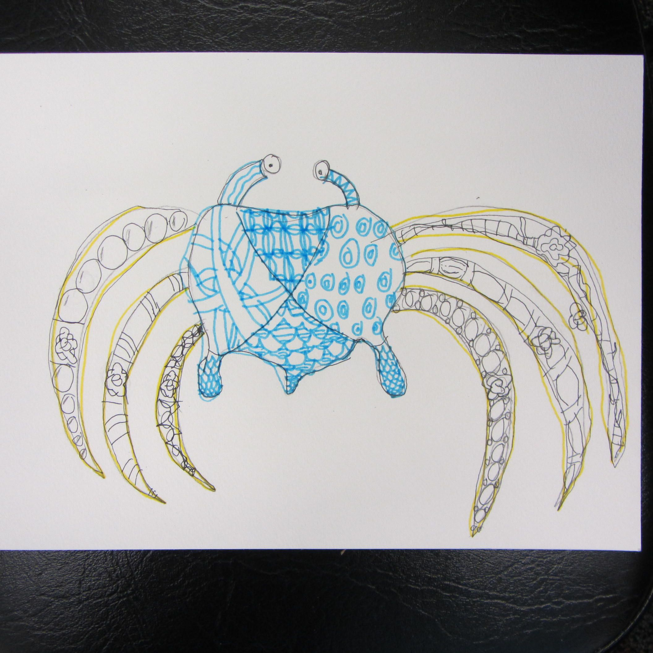 crab zentangle by Matthew of Zentangle Club