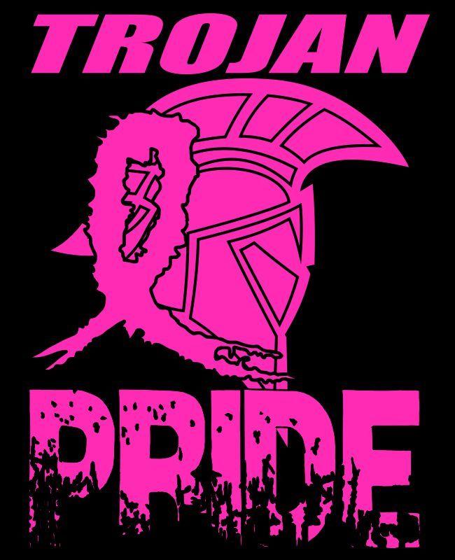Trojan Pride tee shirt design. #breastcancerawareness ...