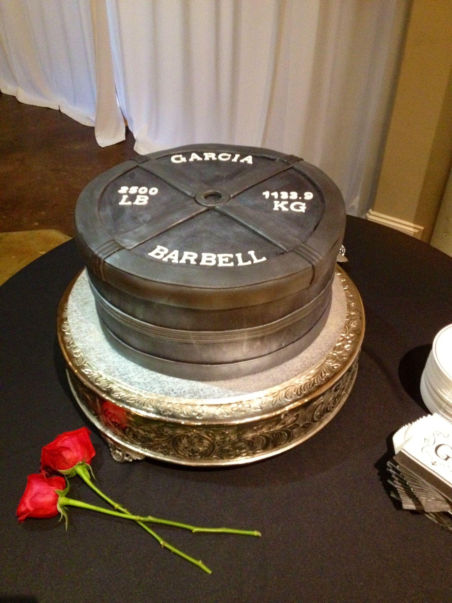 Barbell cake 20112 creations pinterest cake