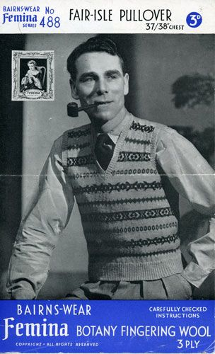 Fair Isle sweater and vest patterns galore | Fair Isle ...