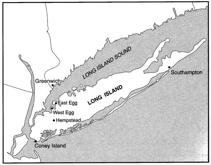 West Egg Long Island Map Long Island as East & West Egg | Nick Carraway | West egg, Long