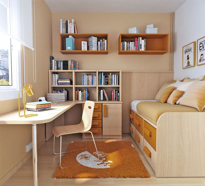 Neatly Layout And Arrangement At Small Bedroom Design Small