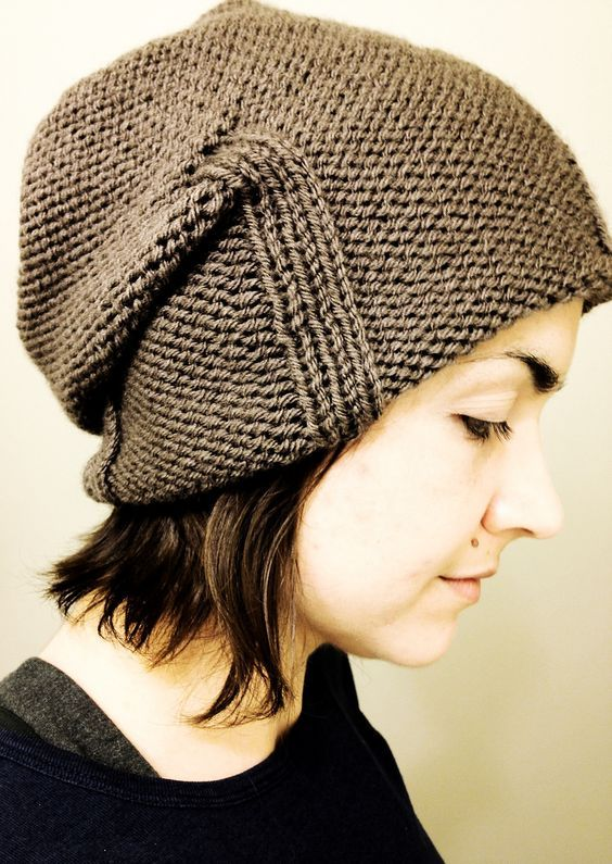 Free Knitting Pattern For Kami Slouchy Hat Easy Slouchy