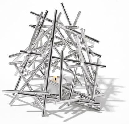 alessi blow up tea light holder by fratelli campana www. Black Bedroom Furniture Sets. Home Design Ideas