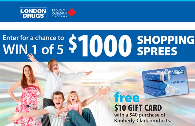 Win shopping spree canada