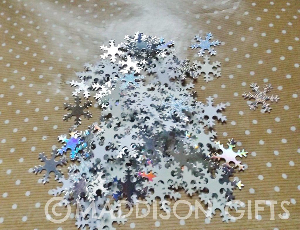 Winter snowflake card embellishments christmas table confetti winter snowflake card embellishments christmas table confetti scrapbooking paper craft supplies by maddycraftsco on etsy jeuxipadfo Choice Image