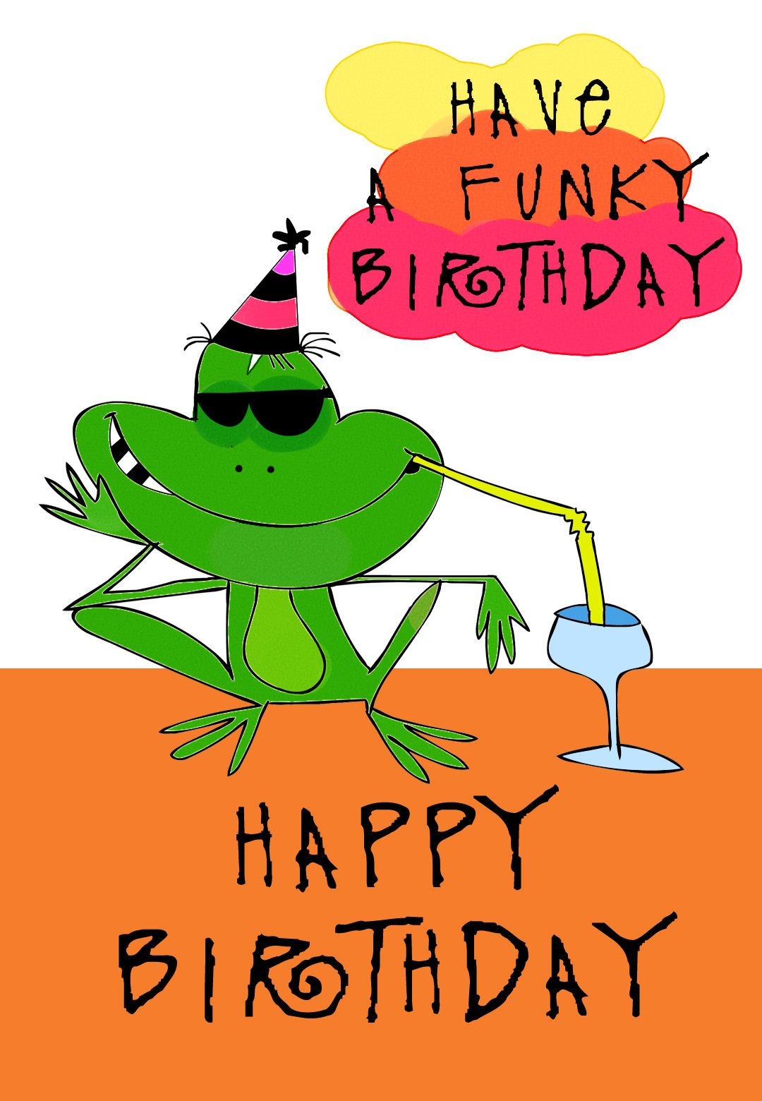Free Printable Funky Birthday Greeting Card So Cool You Can Customize The Entire Prints Front Back Inside X2