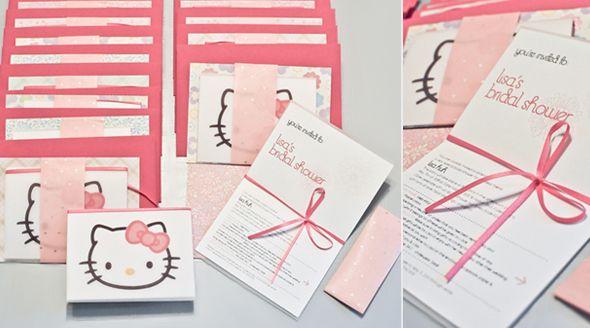 Hello Kitty Wedding Invitation