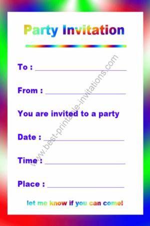 Free Printable Birthday Invitation from wwwbest-printable - best of invitation maker needed