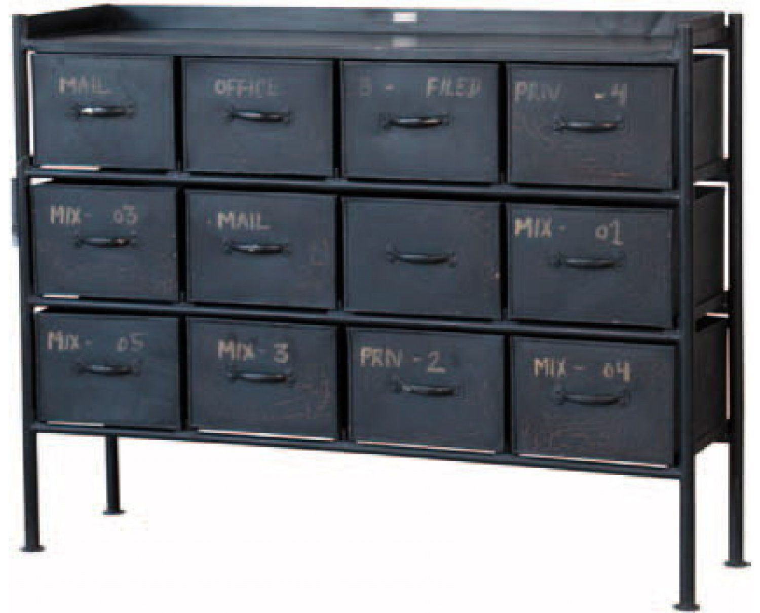 Industriele Kast Laag.Ls94 Industriele Kast Laag 12 Lades Home And Interiors Dresser