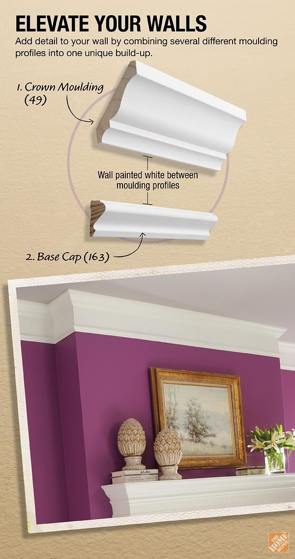Modern Crown Moulding Build Up Project The Home Depot Home Diy Home Improvement Home Diy