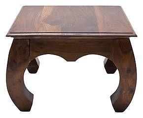 Tavolino Opium ~ Table opium basse bois massif de palissandre marron