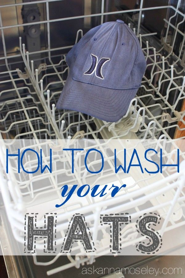 Wash a hat in the dishwasher top rack with vinegar. Pre treat stains with  vinegar and baking soda   scrubbing with toothbrush. 0e13bb02472a
