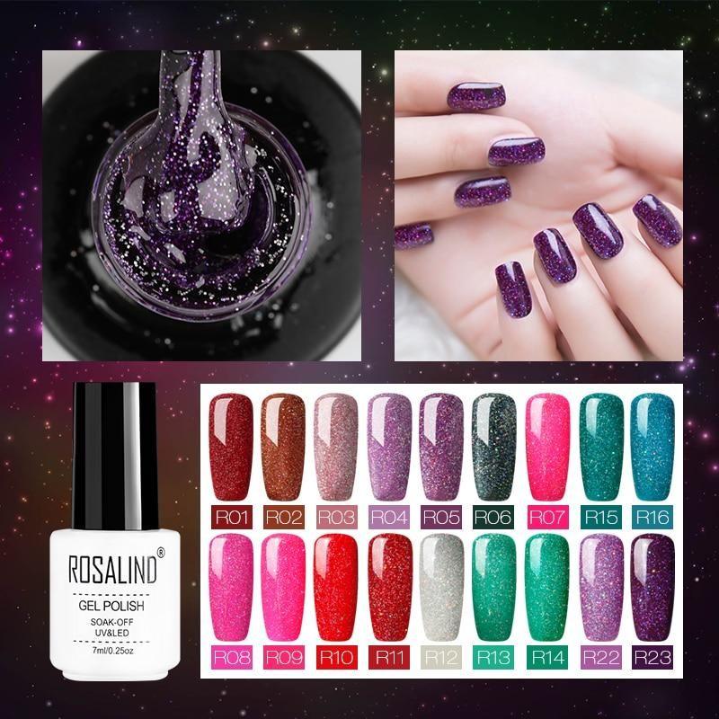 Neon Gel For Nail Polish Rainbow Set Nail Polish Gel Manicure