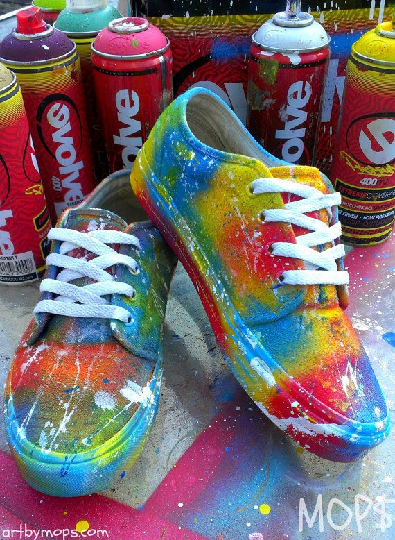 de2d1b3af9 CUSTOM Painted VANS Shoes by MOPS