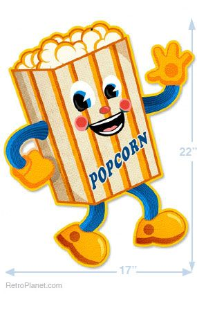 Popcorn dancing. Movie theaters the photes