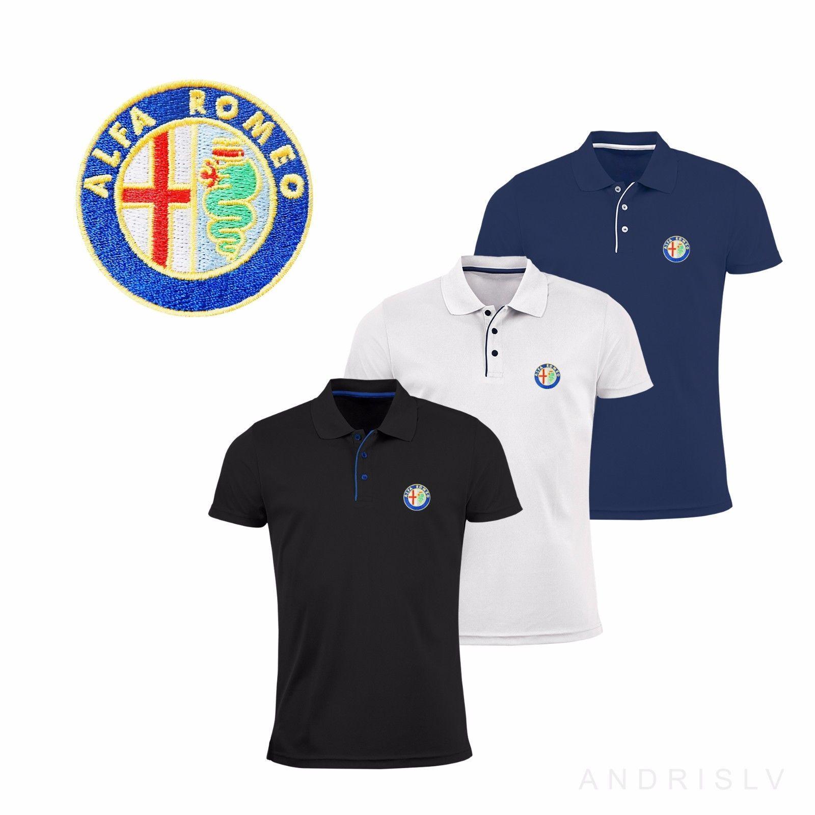 c230e27306f3 Mens Alfa Romeo Polo Shirt M-3Xl Embroidered Auto Logo Gtv Tee 147 156 T  Shirt