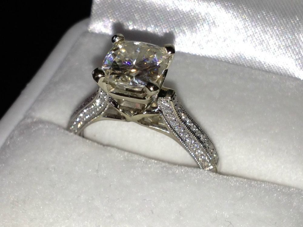 23ct Round Brilliant Cut Solitaire Engagement Ring Solid 14ct White Gold