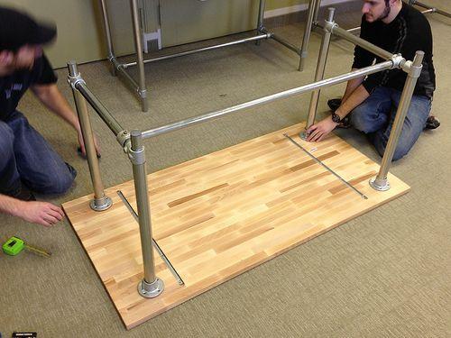 SittingStanding Desk Adjustable Height By Simplified Building - Adjustable height desk diy